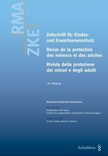 Kindes- und Erwachsenenschutzbehörde als Fachbehörde - Kokes