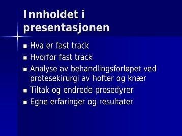 Fast track ved sykehuset Namsos