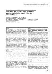 Cancer sur rein unique - Académie Nationale de Chirurgie