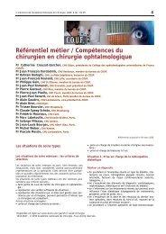 Référentiel métier / Compétences du chirurgien en chirurgie ...