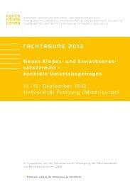 Neues Kindes- und Erwachsenen- schutzrecht – konkrete ... - Kokes