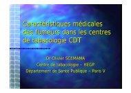 Caractéristiques médicales des patients vus en ... - CDTnet