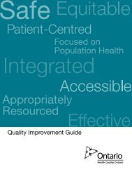 HQO Quality Improvement Guide - Health Quality Ontario