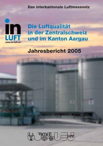 Die Luftqualität in der Zentralschweiz und im Kanton Aargau ... - in-Luft