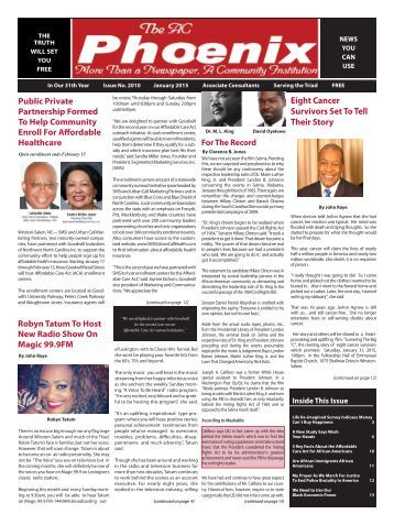 The AC Phoenix: More than a Newspaper, a Community Institution -- Issue No. 2019, January 2015