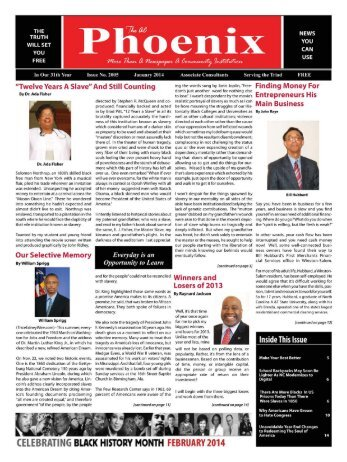 The AC Phoenix: More than a Newspaper, a Community Institution -- Issue No. 2007, January 2014