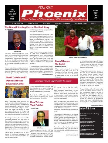 The AC Phoenix: More than a Newspaper, a Community Institution -- Issue No. 2011, May 2014