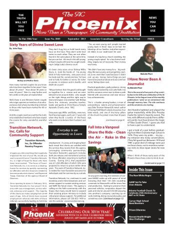 The AC Phoenix: More than a Newspaper, a Community Institution -- Issue No. 2003, September 2013