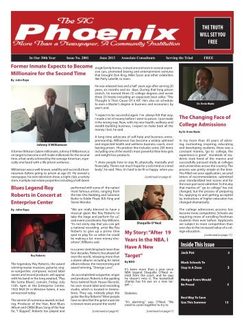 The AC Phoenix: More than a Newspaper, a Community Institution -- Issue No. 2000, June 2013
