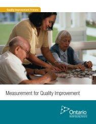Measurement for Quality Improvement - Health Quality Ontario