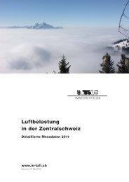 Messbericht Luftqualität Zentralschweiz 2011 - Kanton Zug