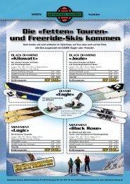 Die «fetten» Touren- und Freeride-Skis kommen - Adventure Factory