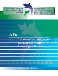 Guidelines for the Economic Evaluation of Health ... - REES France