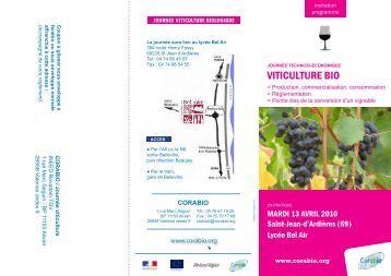 VITICULTURE BIO - Institut Français de la Vigne et du Vin Sud-Ouest
