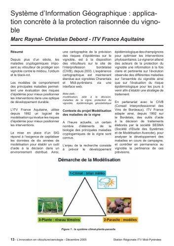Système d'Information Géographique - Institut Français de la Vigne ...