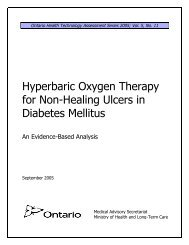 Hyperbaric Oxygen Therapy for Non-Healing Ulcers in Diabetes ...