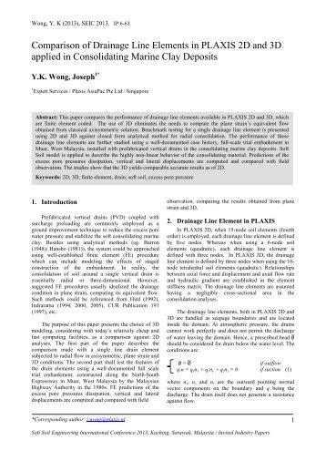 Y.K Wong_Comparison of Drainage Line Elements in PLAXIS 2D ...