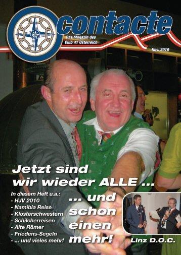 Contacte November 2010 - Club 41