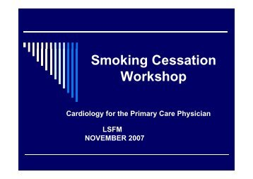 Smoking Cessation Workshop