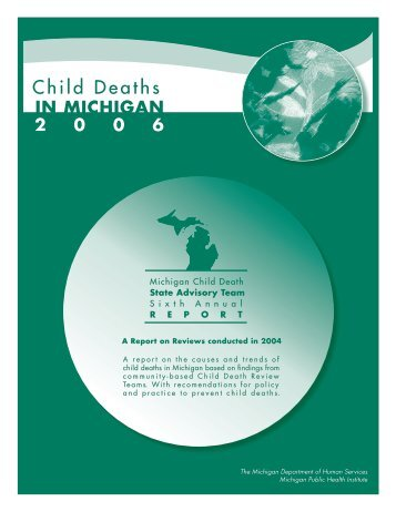 Michigan Child Death State Advisory Team, Sixth Annual Report