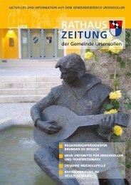 Rathaus-Zeitung August 2009 - Gemeinde Ursensollen