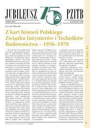 Z kart historii Polskiego Związku Inżynierów i Techników Budownictwa