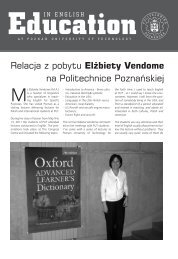 Relacja z pobytu Elżbiety Vendome na Politechnice Poznańskiej