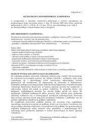 Szczegółowy opis przedmiotu zamówienia - załącznik nr 1