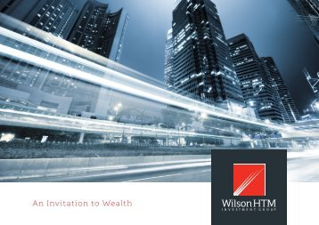 An Invitation to Wealth