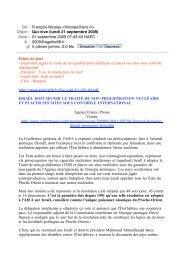 Qui-vive (lundi 21 septembre 2009) - egalite68.fr
