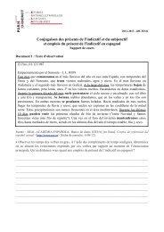 Conjugaison des présents de l'indicatif et du subjonctif ... - UFR EILA