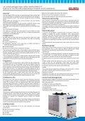 Refrigeratori d'acqua monoblocco Modelli RMA/E-PC condensati ad ... - Page 3