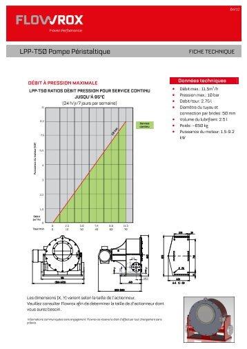 LPP-T50 Pompe Péristaltique - Flowrox