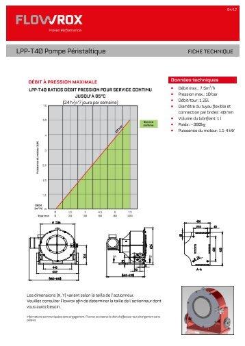 LPP-T40 Pompe Péristaltique - Flowrox