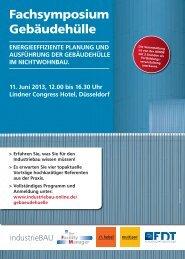 Fachsymposium Gebäudehülle - Hebel