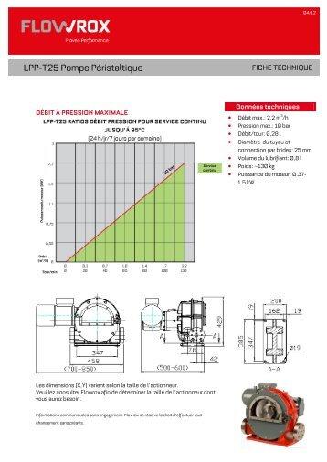 LPP-T25 Pompe Péristaltique - Flowrox