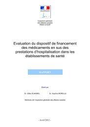 Evaluation du dispositif de financement des médicaments en sus ...