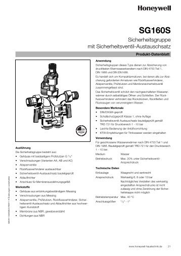 Produktinformation (Deutsch) - Produktkatalog Haustechnik