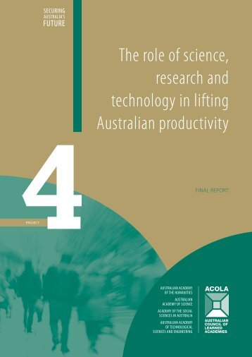 SAF04 Role of SRT in lifting Aus Productivity FINAL REPORT