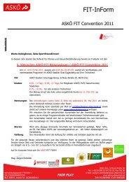 Folder ASKÖ FIT Ausschreibung und Anmeldung