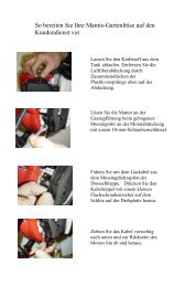 Anleitung zum Verpacken Ihrer Mantis-Gartenfräse