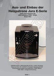 Aus- und Einbau der Heizpatrone Jura E-Serie - KOMTRA GmbH