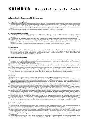 Allgemeine Bedingungen für Lieferungen - Kompressoren-druckluft ...