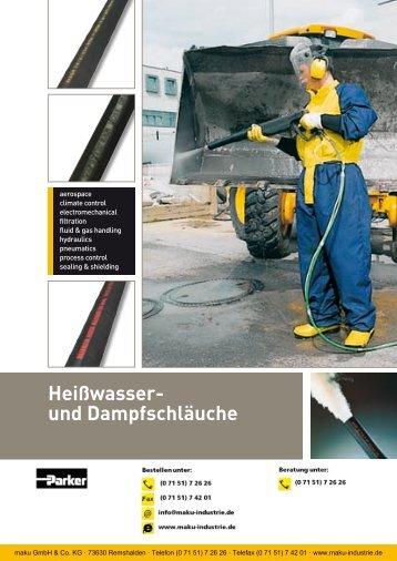 Katalog: 73-4100-DE Heißwasser- und Dampfschläuche - Parker