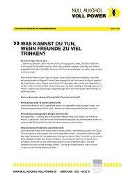 PDF Alkoholprobleme im Freundeskreis - Null Alkohol - Voll Power