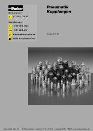 73-3800-DE Pneumatik Kupplungen - Parker