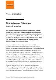Pressemitteilung zur luftreinigenden Wirkung ... - ausbau-schlau.de