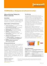 fermacell Rollputz und Schwammroller