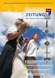 Rathaus-Zeitung Ausgabe August 2010 - Gemeinde Ursensollen