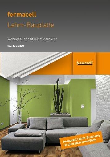 Download Flyer fermacell Lehm-Bauplatte - ausbau-schlau.de